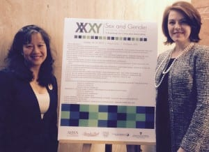 Dr. Eliza Chin (Summit Co-Chair, L) and Dr. Marjorie Jenkins (Summit Chair, R)
