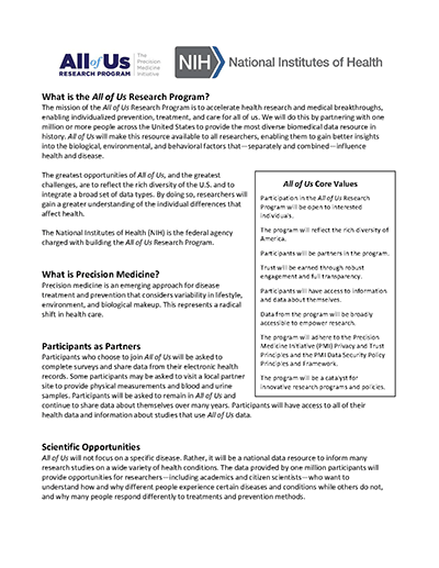 AOU handout for providers.