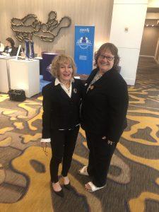 Roberta Gebhard and Nancy Church